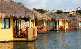 Tropical beach houses Royalty Free Stock Image