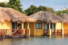 Tropical beach houses Stock Photo