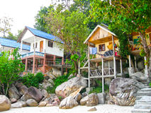 Tropical beach houses in Thailand. The tropical beach houses in the Thailand Royalty Free Stock Photo