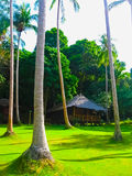 Tropical beach houses in Thailand Royalty Free Stock Photo