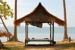 Tropical beach hut in Thailand Royalty Free Stock Images