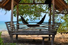 Tropical beach hut in Thailand Stock Photo