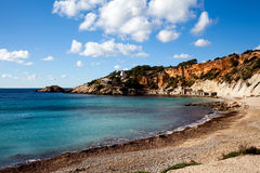 Tropical beach on Ibiza Island Royalty Free Stock Photography