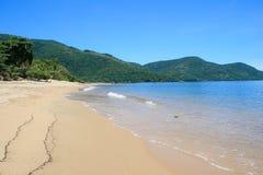 Tropical beach at Ilha Grande, Rio de Janeiro. The sands of a tropical beach at Ilha Grande, state of Rio de Janeiro Stock Images