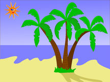 Tropical Beach Illustration Royalty Free Stock Photography