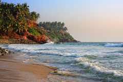 Tropical beach, India Kerala Royalty Free Stock Images