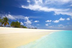 Tropical beach in the Indian Ocean Royalty Free Stock Photos