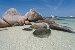 Tropical beach in Indonesia, Bintan. stock photo