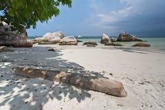 Tropical beach in Indonesia, Bintan. stock photo
