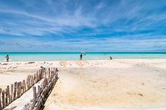 Tropical beach in Isla Mujeres, Mexico Royalty Free Stock Photo