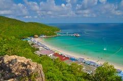 Tropical beach and island. Koh Larn Tropical beach and island, Thailand Stock Photos