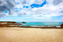 Tropical beach in Island in Caribbean sea,Cozumel,Mexico stock photography