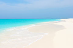 Tropical beach of archipelago Los Roques royalty free stock photography