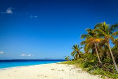Tropical beach on an island Stock Images