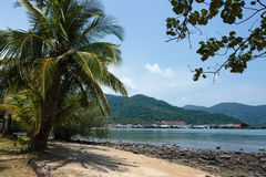 Tropical beach on island of Koh Chang in Thailand Royalty Free Stock Images