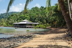 Tropical beach on the island in Thailand Stock Photo