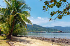 Tropical beach on the island  in Thailand Royalty Free Stock Image