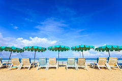 Tropical beach, Karon beach in phuket island, Andaman sea, Thail Stock Photography