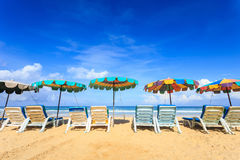 Tropical beach, Karon beach in phuket island, Andaman sea, Thail Stock Photo