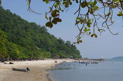 Tropical beach in Kep Royalty Free Stock Photography
