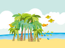 Tropical beach for kid Stock Photography