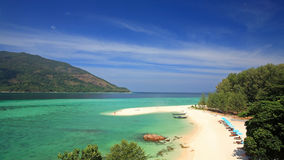 Tropical beach of Koh Lipe by top view Stock Image