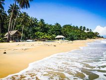 Tropical beach. In Koh Phangan, Thailand Royalty Free Stock Photo