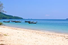 Tropical beach in Krabi, Thailand Royalty Free Stock Photos