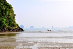 Tropical beach in Krabi, Thailand Stock Photos