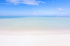 Tropical beach and lagoon stock images