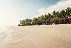 Tropical beach at Langkawi island, Malaysia Royalty Free Stock Photography