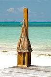 Tropical Beach Lantern. On ocean background Royalty Free Stock Image