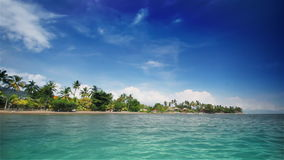 Tropical beach (left) stock footage
