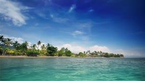 Tropical beach (left) stock footage