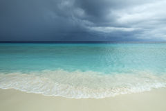 Tropical beach on Little Curaçao, Netherlands Antilles Stock Photography