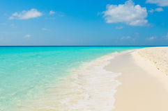 Tropical beach, los roques islands, venezuela Stock Image