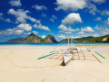Tropical beach. At low tide, El Nido, Philippines Stock Photo