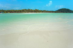Tropical beach. Low tide in Thailand Royalty Free Stock Photo