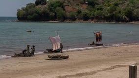 Tropical beach in Madagascar stock footage