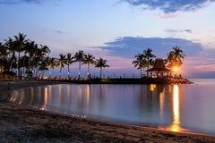Tropical beach at magic hour. Stock Photo
