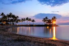 Tropical beach at magic hour. Royalty Free Stock Image