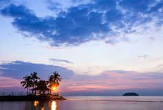 Tropical beach at magic hour. Stock Image