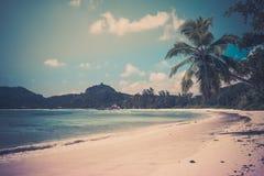 Tropical beach at Mahe island Seychelles Stock Photo
