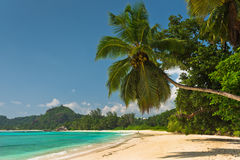 Tropical beach at Mahe island Seychelles Stock Photo