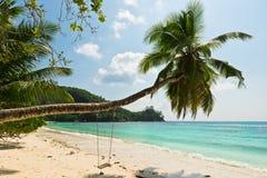 Tropical beach at Mahe island Seychelles Stock Photos