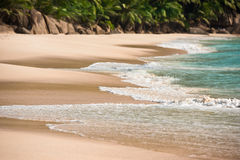 Tropical beach at Mahe island Seychelles Stock Image