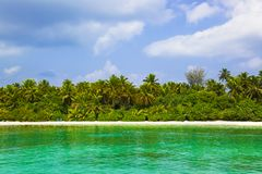 Tropical beach at maldives Stock Photography