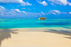Tropical beach at Maldives Stock Images