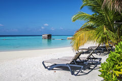 Tropical beach, Maldives Royalty Free Stock Photos