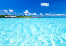 Tropical beach in Maldives Royalty Free Stock Photo
